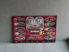 20th Annual SUPERSTARS OF NASCAR 1999 WALL CALENDAR Jeff Gordon Tony Stewart