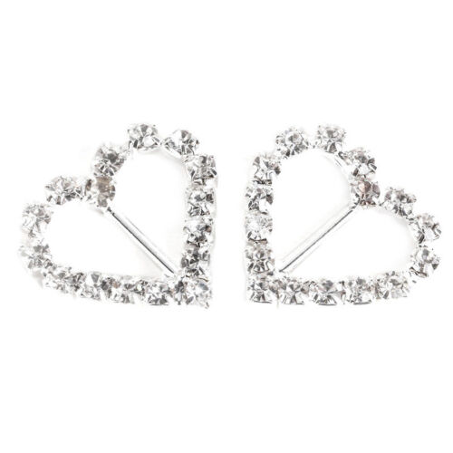 20x Diamond Diamond Crystal Rhinestone Ribbon Buckles Sliders for weddin T6W7 1X