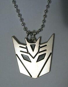 Decepticon transformers logo silver plated pendant necklace the image is loading decepticon transformers logo silver plated pendant necklace the mozeypictures Images