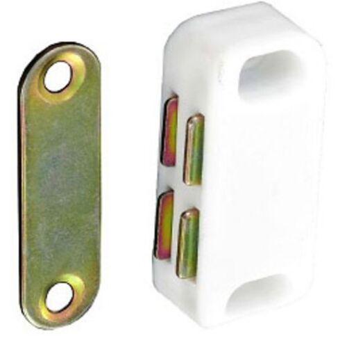 Securit Magnetverschluss Schließung Weiß für Schrank Türen 3er-pack