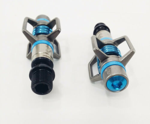 Black//Blue Crank Brothers Eggbeater 3 Clipless MTB Bike Pedals /& Cleats