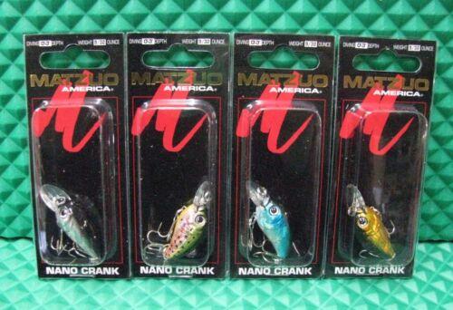 NC3 Series EACH SOLD SEPARATELY! Matzuo Nano Crank Mini Crankbait Lures 9//32 oz