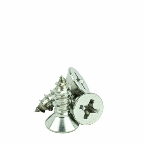 """#10 x 3//4/"""" Flat Head Phillips Sheet Metal Screws Self Tapping,18-8 Stainless Ste"""
