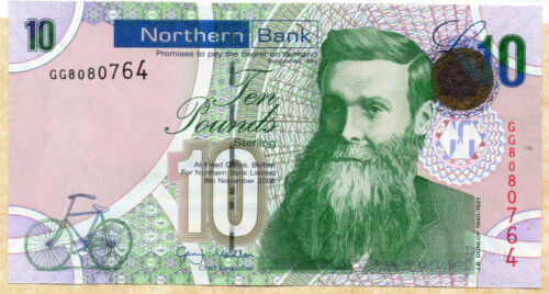 2008  NORTHERN BANK LTD Belfast £10 banknote UNC to Fine real currency notes