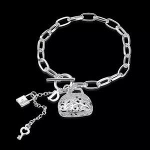 Anhänger Herze  Schmuck Bettelarmband Neu Damenarmband Silber Pl