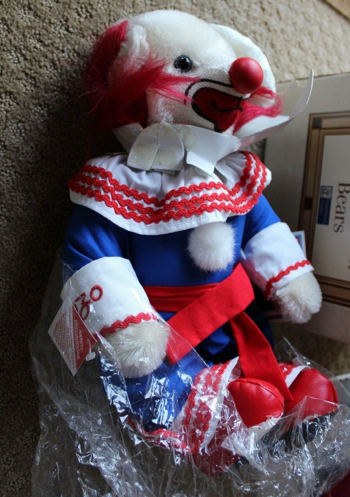 RARE Limited Edition 25 of 1000 Cooperstown Bears Bozo The Clown with Box & COA