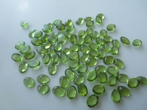 Details about  /Great Natural Peridot 6X8 mm Oval Cabochon Loose Gemstone AE01