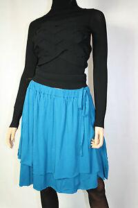 Cora-Kemperman-Designer-Skirt-Layered-Look-Size-L-Petrol