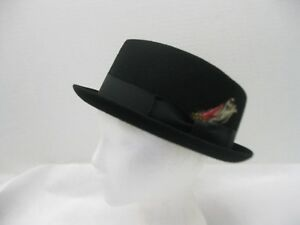 eafb32fd Wool Felt Blues Brothers Hat Trilby Fedora Black with Feather Choose ...