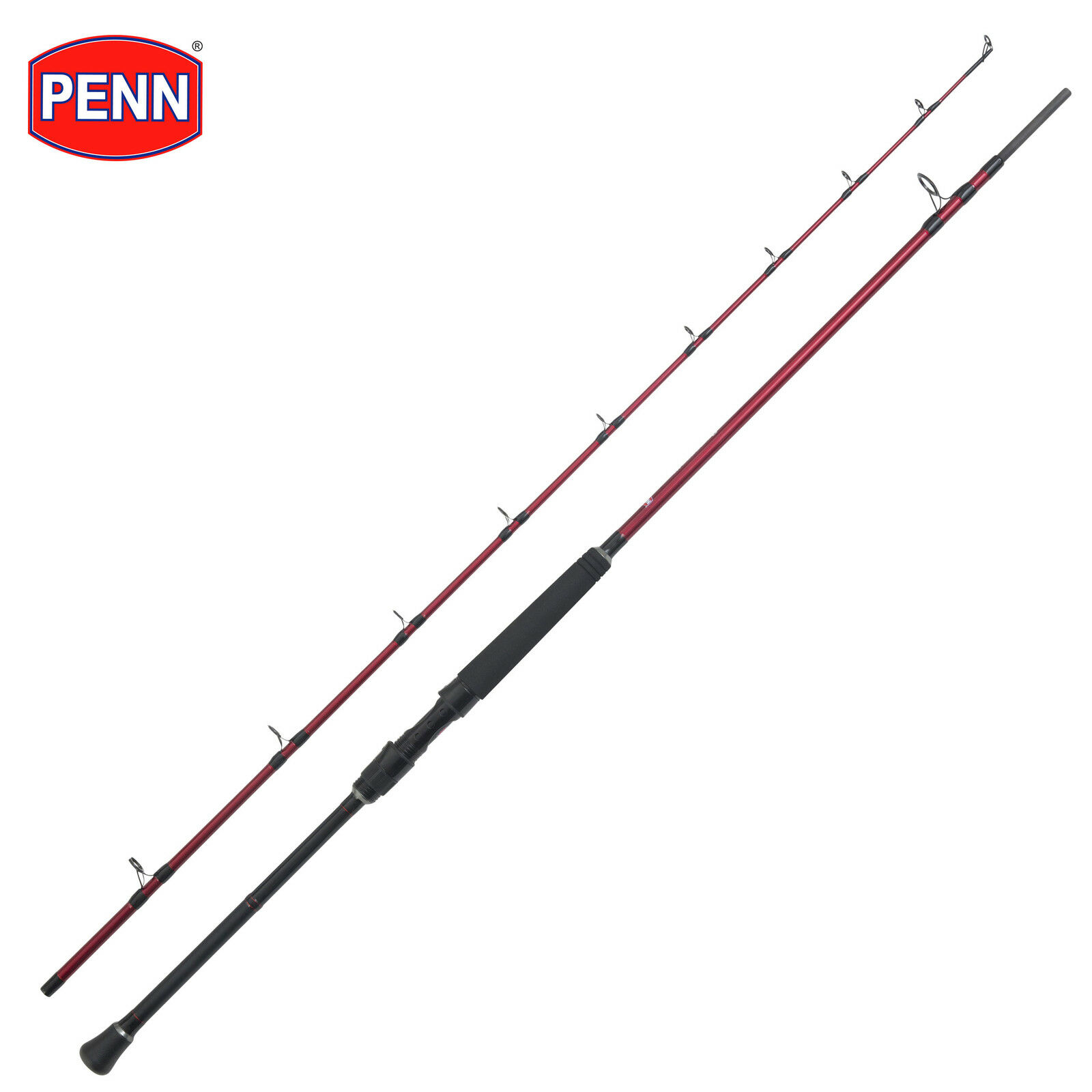New PENN Rampage II  Mk2 Boat Fishing Rod 7'6' 2pc Equal Sections 30lb Class  free delivery and returns