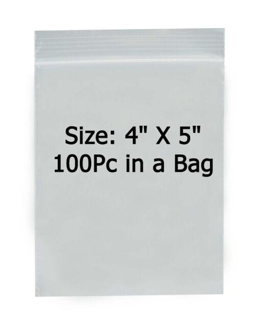 "500pc 4/"" x 7/"" 2 Mil Clear Plastic Zip Bag Ziplock Bag Reclosable"