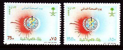 Diskret Saudi Arabia 1993 ** Mi.1178/79 Gesundheit World Health Day Mittlerer Osten