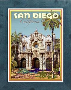 Santa Barbara Vintage Art Deco Style Travel Poster-by Aurelio Grisanty CA