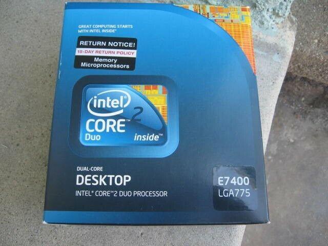 Intel Core 2 Duo E7400 Procesador de doble n/úcleo para CPU Socket LGA775 SLGW3 FSB 1066 MHz 3 MB 2,8 GHz