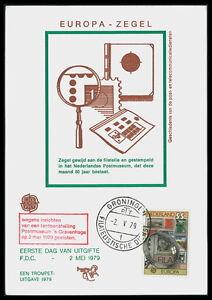 NL-MK-1979-EUROPA-CEPT-MAXIMUMKARTE-CARTE-MAXIMUM-CARD-MC-CM-bd75