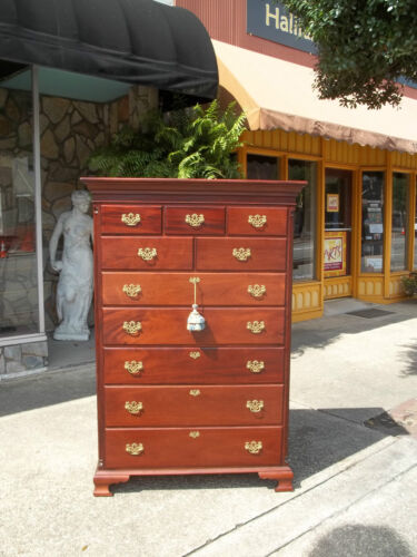 Outstanding Southern Mahogany New Market Tall Chest 20th Century