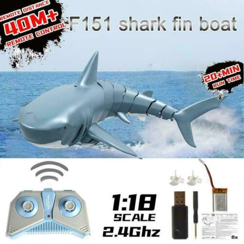 Electric Simulation Remote Control Shark Boat Kids Pool Swimming Waterproof E4X9