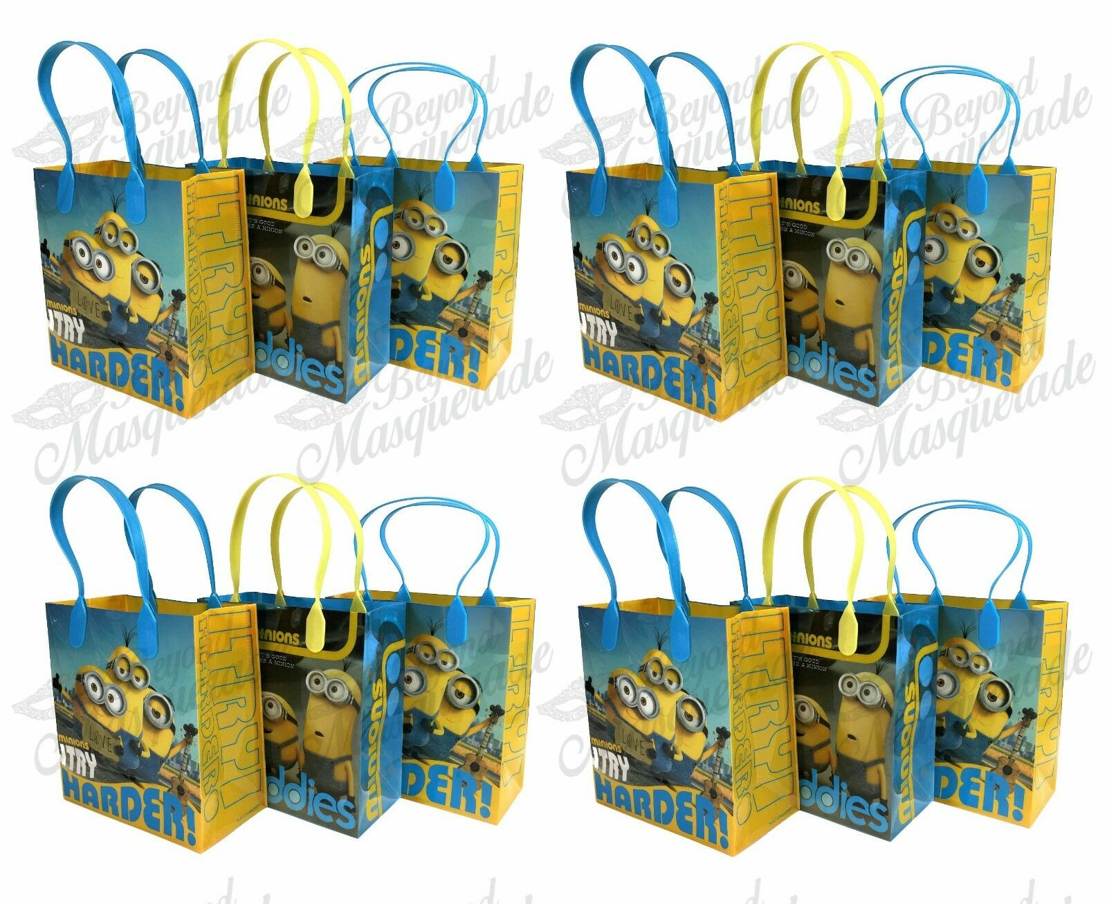 (60ct) 'The Movie Minions' Birthday Boy Party Favor Goodie Loot Gift Bags