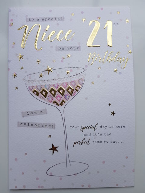 To A Special Niece 21st Birthday Card