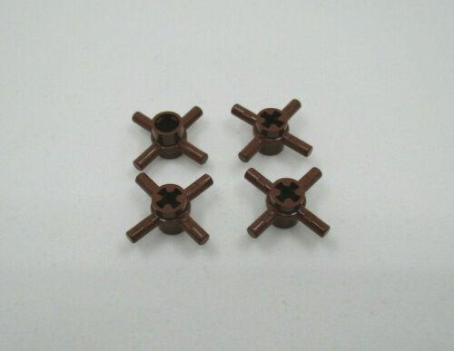 LEGO Technic  Verbinder 3x3 Kreuzrad Braun 4 Stück # 48723 Achse Reddish