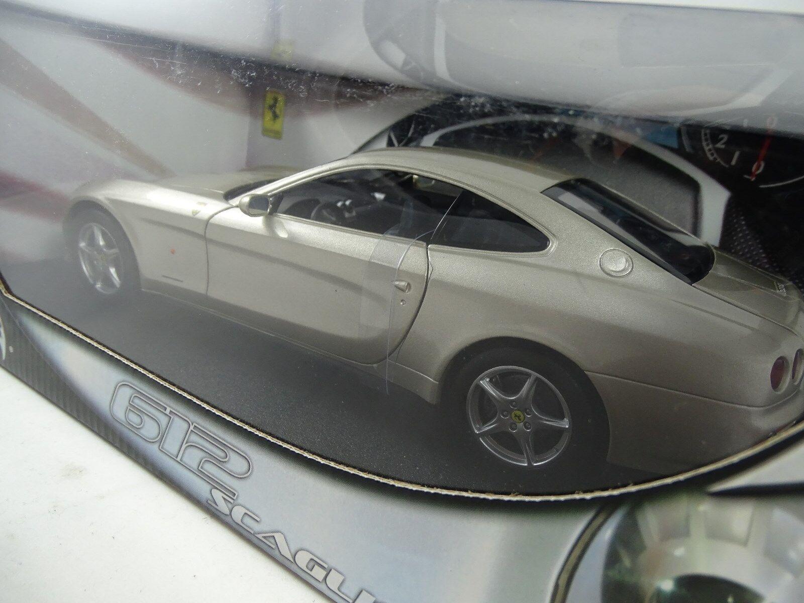 1 18 Hot Wheels-ferrari 612 Scaglietti Scaglietti Scaglietti gris plata-rareza § 9aaa4a