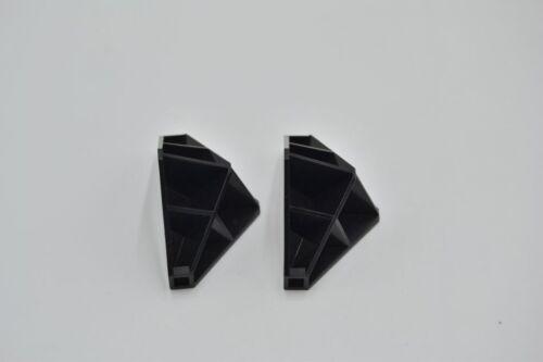 LEGO 2 x Ecke M-Tron Wand schwarz Black Panel 4x4x6 Corner Convex Ribbed 4737