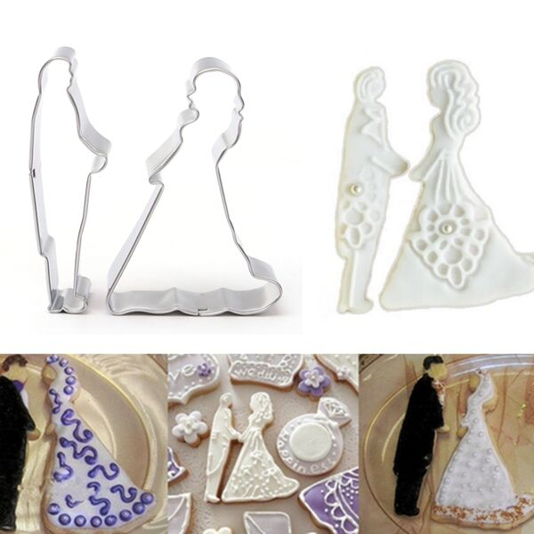 Bride Groom Love Wedding Cookie Cutter Mold Cake Decorating Mould Biscuit Pastry