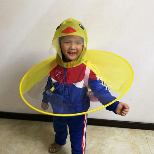 süß Ente faltbar Kinder Regenmantel Regenschirm Schirme Regen Kappe Hut Cape