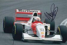 Martin Brundle Hand Signed Marlboro McLaren Peugeot F1 12x8 Photo.