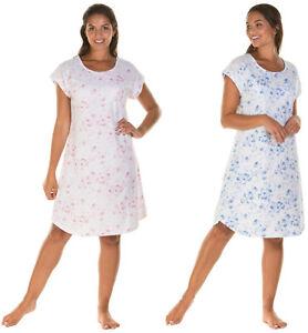 Ladies Womens Short Cap Sleeve Soft Jersey Cotton Nightdress By La ... 5e6f54473
