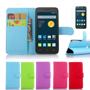 huge selection of c6826 29bc3 Leather Wallet Case Cover For Optus X PLAY 3G / Alcatel Pixi 4 4.0 ...