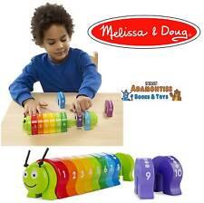 MELISSA Doug in Legno conteggio Caterpillar Puzzle numero colore Early Learning Giocattolo