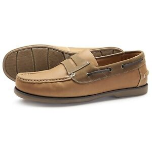 Samuel-Windsor-Men-039-s-Shoes-Classic-Deck-Slip-On-Casual-Camel-UK-Sizes-5-14-NEW