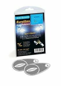 PACK OF 2 EUROLITES BEAM DEFLECTORS//CONVERTORS FOR DRIVING IN EUROPE