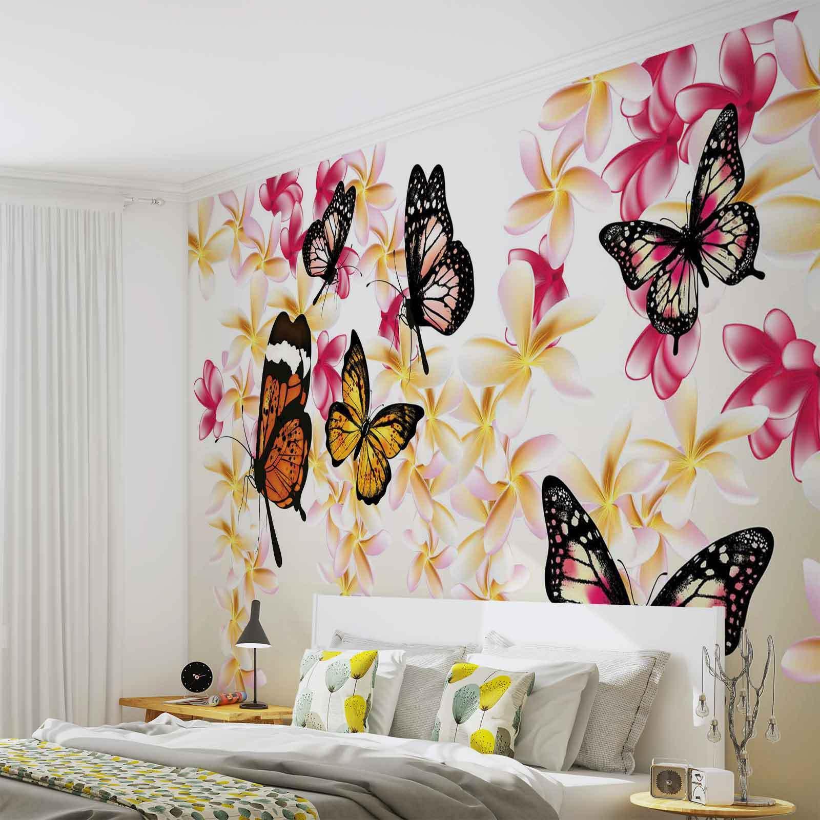 VLIES FOTOTAPETE Schmetterlinge TAPETE MURAL (558FW)