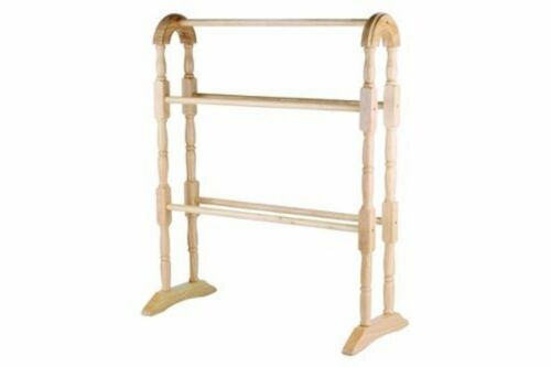 Porte-serviettes Floor Standing naturel plancher de bois debout salle de bain étagère de rangement