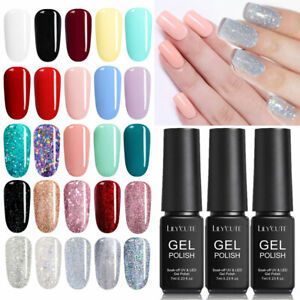 7ml-Nail-Art-Gel-Nail-Polish-Soak-off-UV-LED-Manicure-Varnish-Top-Base-Coat-Set