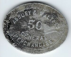 Details about Hymera, Indiana - Asbury & Walter 50¢ Trade Token - oval