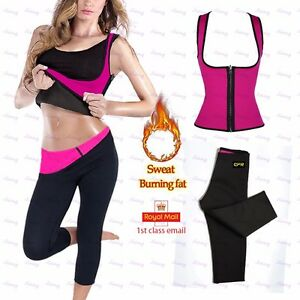 99bfc7e55e35f Women Hot Neoprene Body Shaper Slimming Waist Pants Yoga Vest Sweat ...