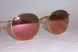 4f7004991a8 NEW RAY BAN Sunglasses FOLDING 3532 001 Z2 GOLD PINK MIRROR 53mm ...