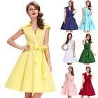 50'S 60'S DRESS Retro Swing Housewife Jive Vintage Pin Up Mini Dress