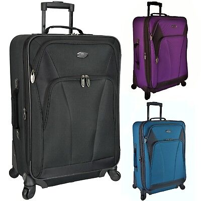 "US Traveler Saratoga 24"" Medium Checked Expandable Spinner Luggage Suitcase Bag"