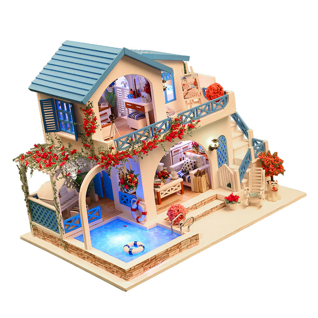 Kit en bois miniature de projet de maison de poupée de Handcraft de DIY