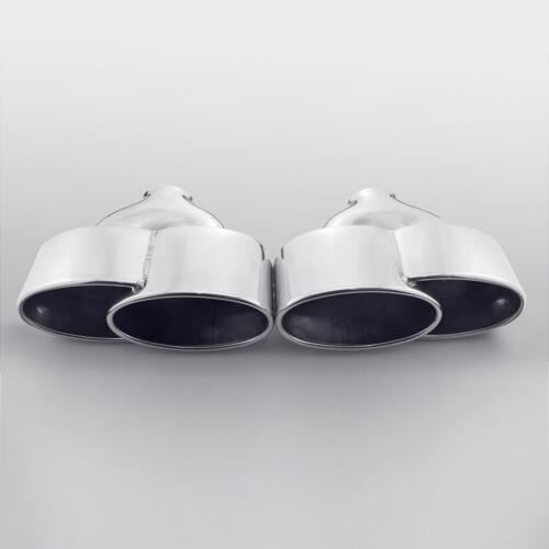 Exhaust tip for Porsche 911 996 997 style quad staggered angled stainless steel