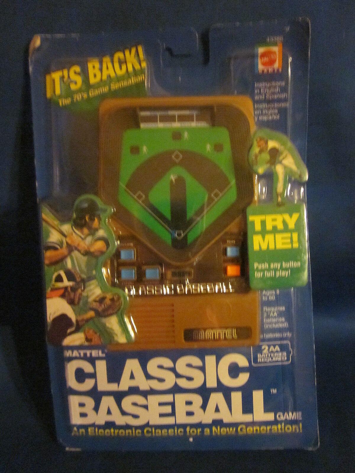 Mattel clásico juego de béisbol electrónica portátil Sellado desde 2002