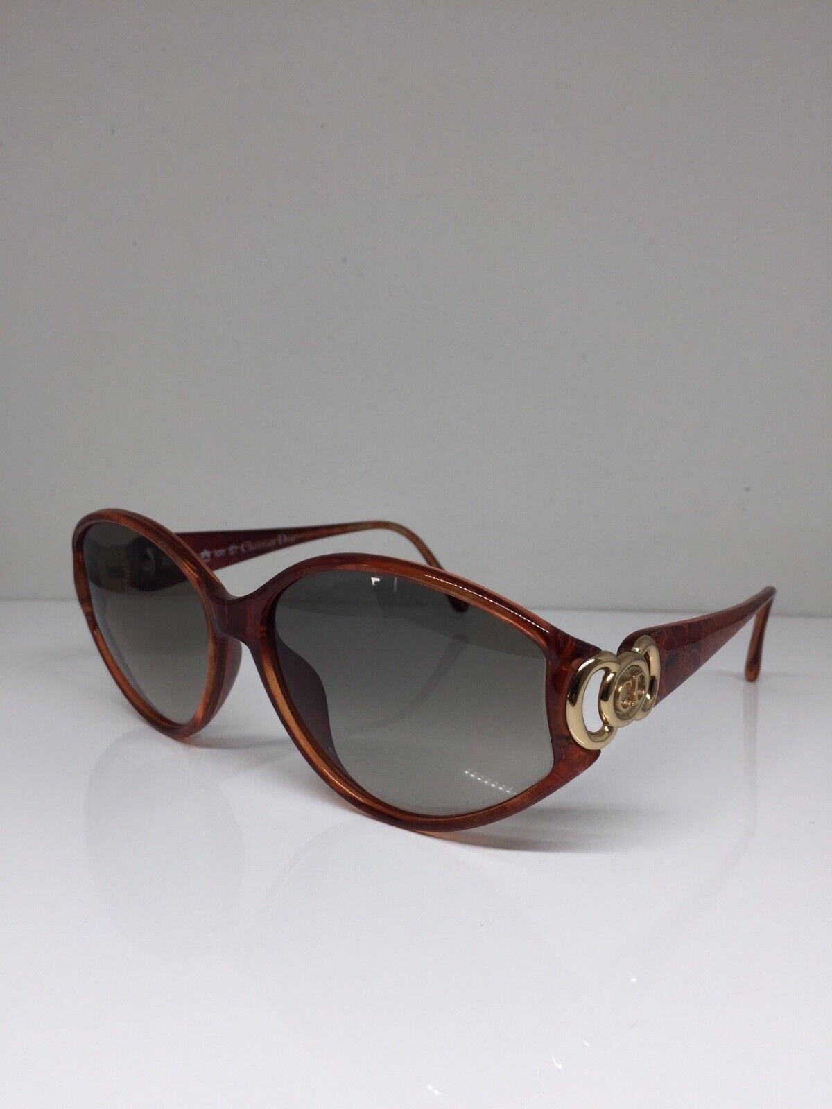 New Vintage Christian Dior CD 2850 Sunglasses C. Carnelian w/ Gold Austria 59mm
