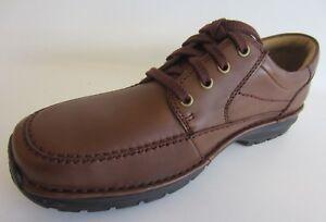 ancho con para H marrón Fitting zapatos de hombre kett Sun cordones Clarks cuero Scahill 38b UZAq04Uv