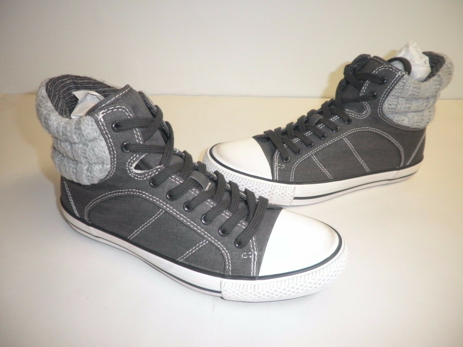 Splendid Size 7.5 M ESSEX Black Grey Fashion High Top Sneakers New Womens shoes