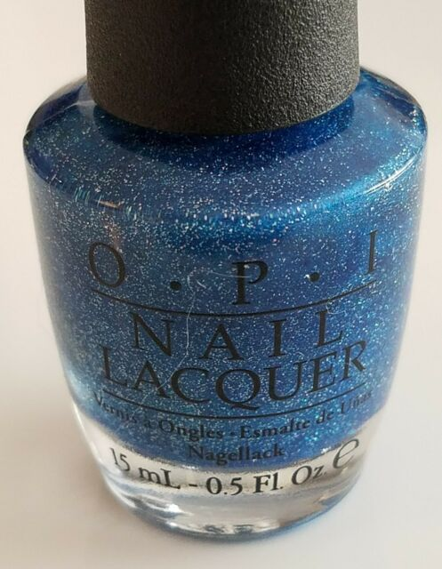OPI Blue Chips NL 903 Nail Polish Lacquer Blue Glitter Limited ...