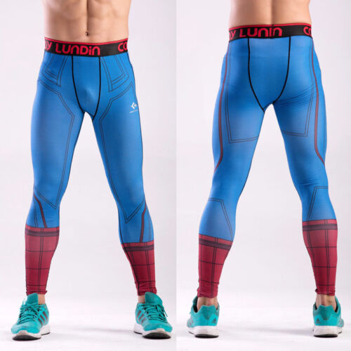 Hommes Compression Thermique Serré des couches de base pantalon long leggings Gym Sport Pantalon